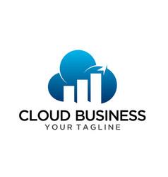 Online business logo template vector