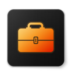 Orange glowing toolbox icon isolated on white vector