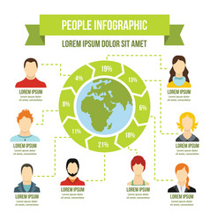 people infographic concept flat style vector image