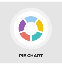 Pie chart icon flat vector