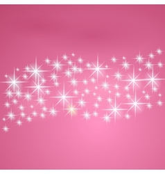 Pink fantasy background with stars vector