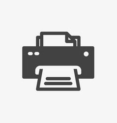 printer icon technology icon glyph solid style vector image