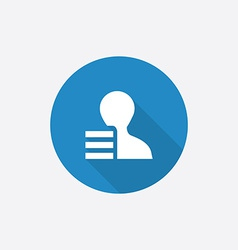 Profile application Flat Blue Simple Icon with vector