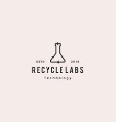 recycle lab logo icon vector image