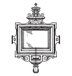 renaissance strap-work frame was made during the vector image