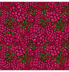Seamless pattern of berries vector image