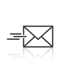 send email message icon vector image