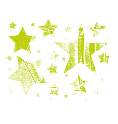 Set of stars in grunge style vector
