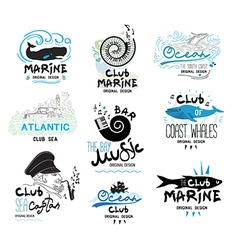 Set retro of clubs and bars logo and emblems vector image