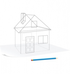 simple house sketch vector image