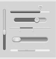 sliders gray control level buttons horizontal vector image