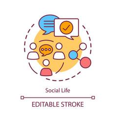 Social life concept icon interpersonal vector