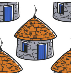 south africa symbol traditional house or hut vector image