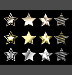 Stars precious metals vector