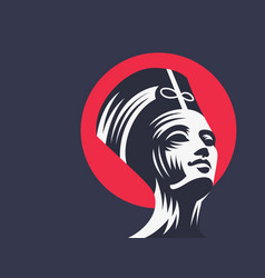 statue of cleopatra or nefertiti vector image