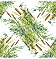 Summer Garden floral seamless pattern on white vector