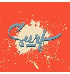 Surf hand-lettering logo vector