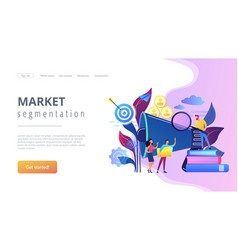 Target group concept landing page vector