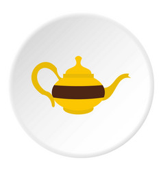 Teapot icon circle vector