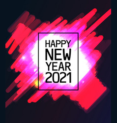 text 2021 happy new year vector image