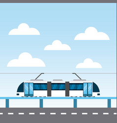 tram service public icon vector image