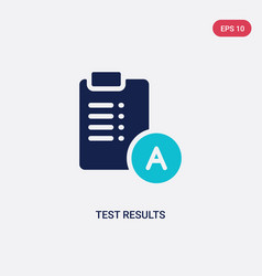 Two color test results icon from education vector