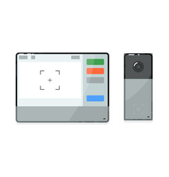 Video intercom camera and display unit isolated on vector