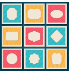 Vintage patterned cards templates set vector image