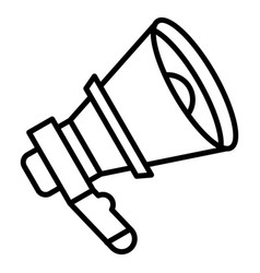 voice megaphone icon outline style vector image
