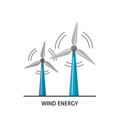Wind turbine icon in flat style vector