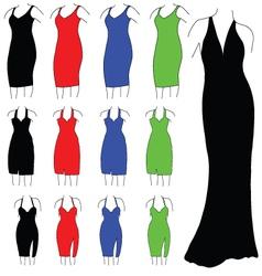Womens formal dresses vector image