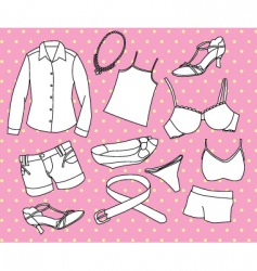 girls clothing vector image vector image