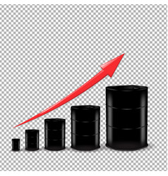 oil barrel set vector image