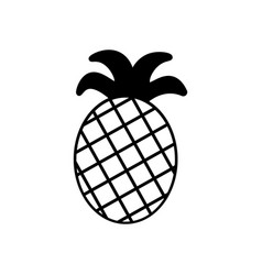 pineapple icon in trendy flat style isolated on vector image