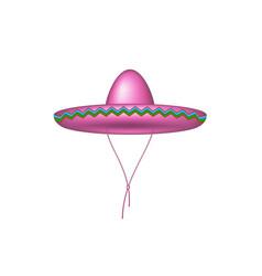sombrero hat in pink design vector image