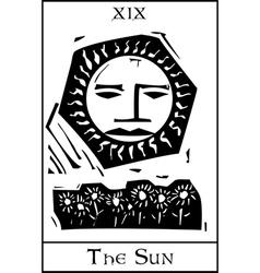 Sun Tarot Card vector image