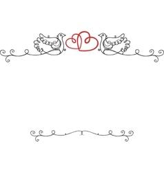 Wedding vintage frame vector