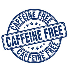 Caffeine free blue grunge stamp vector