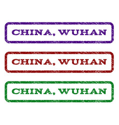 china wuhan watermark stamp vector image