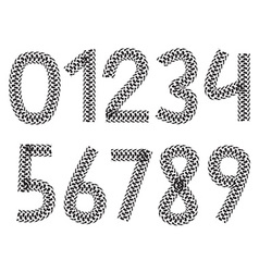 digits made from motorcycle tire tracks vector image