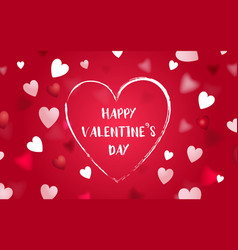 happy valentines day abstract heart background vector image vector image