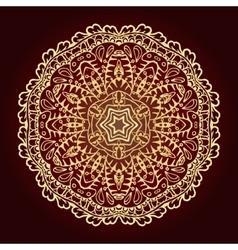 Mandala Ethnic decorative element Hand drawn vector image vector image