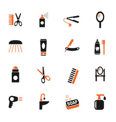 personal care icon set vector image