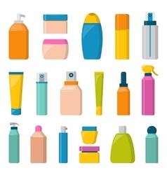 Blank package container dummy collection bottle vector image vector image