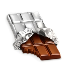 Chocolate bar a tasty piece of chocolate i vector image vector image