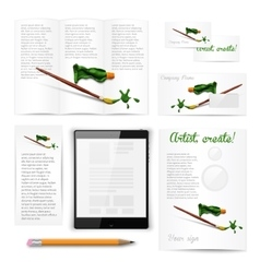Classic white stationery template Documentation vector image vector image