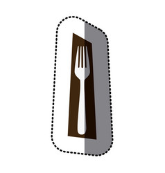 fork picture decorative icon vector image vector image
