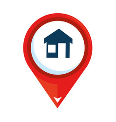 pointer location with house vector image