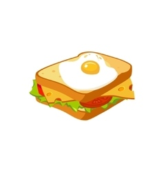 Sandwich Breakfast Food Element Isolated Icon vector image vector image