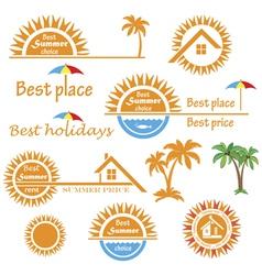 Season summer emblems design vector image vector image